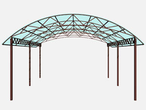 НАВЕС двухскатный арочный